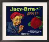 Jucy Bite Apple Crate Label - Yakima, WA Prints