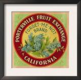 Forget Me Not Orange Label - Porterville, CA Prints