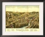 Thomaston, Connecticut - Panoramic Map Posters