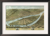 Wheeling, West Virginia - Panoramic Map Prints