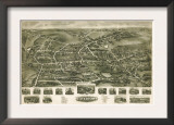 Watertown, Connecticut - Panoramic Map Prints