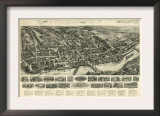 Shelton, Connecticut - Panoramic Map Prints