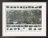 South Manchester, Connecticut - Panoramic Map Posters