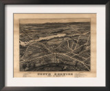 South Berwick, Maine - Panoramic Map Prints