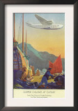 Pan-American Clipper Flying Over China - Hong Kong, China Art