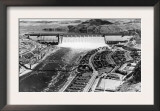Grand Coulee Dam View from Air Photograph - Grand Coulee, WA Posters