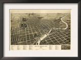 South Bend, Indiana - Panoramic Map Prints