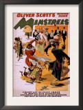 Oliver Scott's Refined Negro Minstrels Theatre Poster Prints