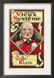 Vieux Systeme Wine Label - Europe Posters