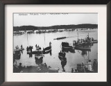 Harvard vs. Yale Rowing Crew Race Photograph - New London, CT Prints