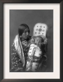 Mother and child Apsaroke Indian Edward Curtis Photograph Art