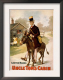Uncle Tom's Cabin Man and Donkey Theatre Poster Poster