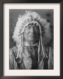 Sitting Bear, Arikara Native American Man Curtis Photograph Posters