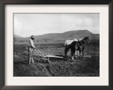 Native American Plowing His Field Photograph - Sacaton Indian Reservation, AZ Prints