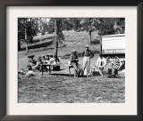 Picnicking in Yellowstone National Park Photograph - Yellowstone, WY Posters