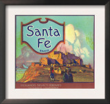 Santa Fe Orange Label - Redlands, CA Posters