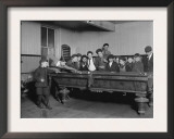 Street Boys Playing Billiards at the Boys Club Photograph - New Haven, CT Posters