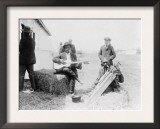 Men Playing Kazoos and Guitar Photograph Art