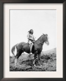 Nez Perce Indian on Horseback Edward Curtis Photograph Prints
