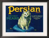 Persian Pear Crate Label - Yakima, WA Poster