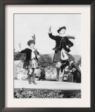 Two Scottish Children in Kilts Dancing Photograph - Scotland Posters