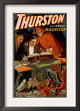 Thurston the Great Magician with Devil Magic Poster Print