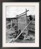 Navajo Women Weaving Blankets Photograph Print