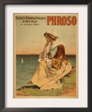 Phroso Woman at Beach Theatrical Poster Prints