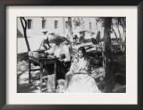 Woman with Baby and Public Letter Writer Photograph - Mexico Prints