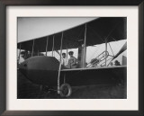 Katharine Wright with Orville in Model HS Plane Photograph - Kitty Hawk, NC Poster