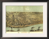 Alton, Illinois - Panoramic Map Posters