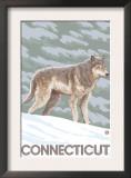 Connecticut - Wolf Scene Prints