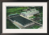Aerial View of Goodyear-Zeppelin Fabrication Plant - Akron, OH Print
