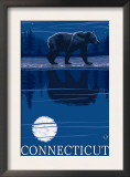Connecticut - Bear in the Moonlight Posters