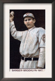 Brooklyn, NY, Brooklyn Dodgers, Eros Barger, Baseball Card Poster