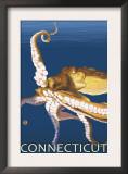 Connecticut - Octopus Scene Prints