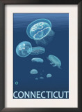 Connecticut - Jellyfish Scene Prints