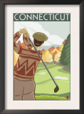 Connecticut - Golfing Scene Art