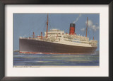 View of the Cunard R.M.L. Franconia Cruise Ship Poster