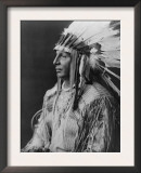 White Shield Arikara Native American Indian Curtis Photograph Prints