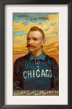 Chicago, IL, Chicago White Stockings, Cap Anson, Baseball Card Art