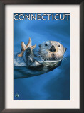 Connecticut - Sea Otter Scene Prints