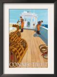 Connecticut, Lobster Fishing Boat Scene Prints