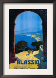 Alassio, Italy - West Italian Riviera Travel Poster - Alassio, Italy Posters