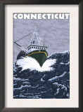 Connecticut - Crab Fishing Boat Scene Prints