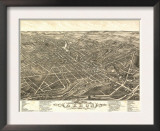 Akron, Ohio - Panoramic Map No. 2 - Akron, OH Poster
