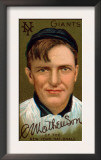 New York City, NY, New York Giants, Christopher Mathewson, Baseball Card Poster