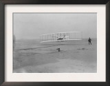Orville Wright on First Flight at 120 feet Photograph - Kitty Hawk, NC Poster