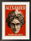 Alexander the Man who Knows Magic Poster Prints