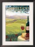 Connecticut - Wine Country Scene Art